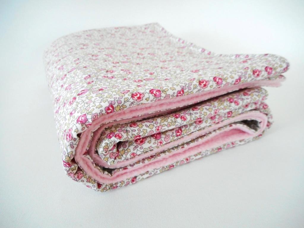Couverture bébé 60x90cm Liberty Eloïse rose